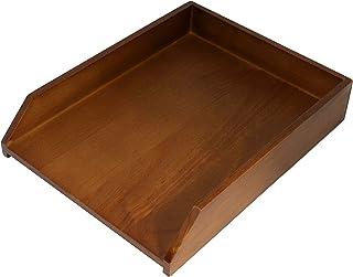 HumanCentric 木质信纸托盘(黑色胡桃木)| 办公桌纸托盘
