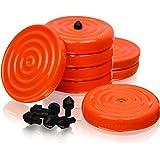 "Slipstick CB700 通用长椅握把带防滑握把表面,适用于木工、绘画、等级、提升和支撑(8 件套)2-3/4"" 圆形 x 1⁄2"" 高-橙色"