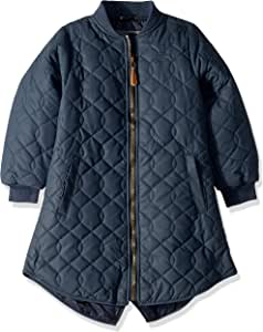 MIKK-Line - 麦尔登 Kids & Baby 女孩绗缝冬季夹克,蓝色夜晚,3-4 岁