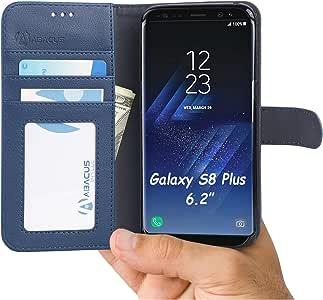 Abacus24-7 RFID 屏蔽钱包手机壳适用于三星 Galaxy S8 Plus 手机4336650471 蓝色