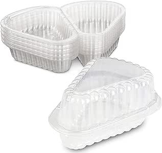 MT Products 铰链塑料馅饼/奶酪蛋糕切片容器 - 20 个装 透明 Extra Small 9INPIE20