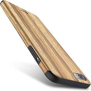 BELK 防滑木手感 GRIP 保险杠超轻软 TPU 后盖适用于 iphone SE / 5S Teak iPhone 7/iPhone 8