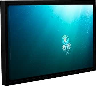 ArtWall James Thompson 的水母画廊装裱地板画框油画 16x24 0tho021a1624f