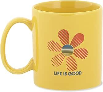 Life is Good 成人杰克花条纹马克杯 均码 黄色 46270