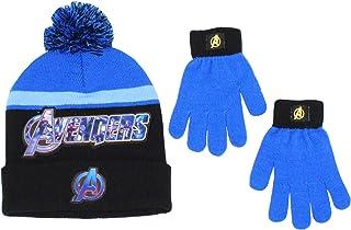 Marvel 男童复仇者联盟冬季帽子和手套套装
