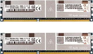 v-Color 128GB(2 x 64GB)服务器内存 Ram 模块* DDR3 1333MHz (PC3-10600) 负载减震 DIMM 带散热器 1.35V CL9 8Rx4 (TLR364G13O49LK)