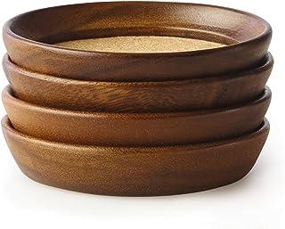 Kamenstein 5186008 4 件套,天然相思木&软木可堆叠杯垫