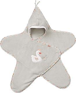 FEHN 062496 天鹅抱毯/可爱的婴儿毛毯,带魔术贴,适用于婴儿车,婴儿背带,汽车座椅,婴儿床,适用于 0-6 个月的婴儿。