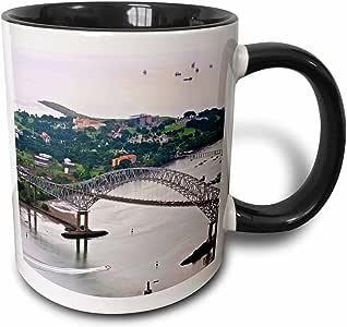 3drose kike CALVO 巴拿马–桥 OF THE 美洲巴拿马–马克杯 黑色/白色 11-oz Two-Tone Black Mug
