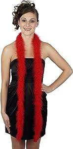Zucker 羽毛 - Marabou Boas 纯色-中等重量 - 您选择的颜色 红色 5/H18//R