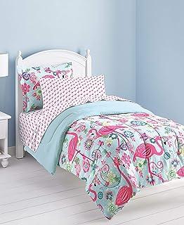 Dream Factory Flamingo Comforter Set, Pink, Full