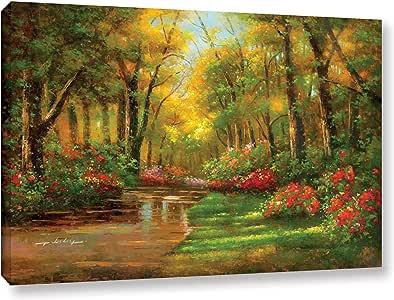 Wesley's Enchanted Creek II, Gallery Wrapped canvas 24x36