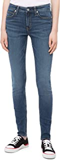Calvin Klein 卡爾文·克萊恩 女式 中腰超緊身牛仔褲