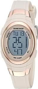 armitron SPORT 女式45/ 7034pbh 玫瑰金色装饰数字计时 blush pink 树脂手表