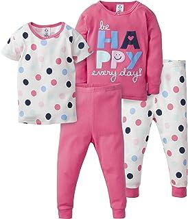GERBER 女婴 4 件套睡衣套装