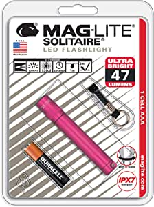MagLite Solitaire LED 1 节 AAA 电筒,黑色 Compact SJ3AKY6