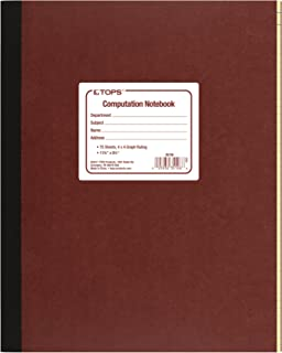 "TOPS Computation Notebook, 4 x 4 Quad Ruling, 11 3/4""X 9 1/4"",75 Sheets (35126)"