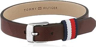 Tommy Hilfiger 男式棕色皮革迷你皮带手链