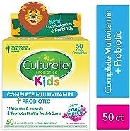 Culturelle 康萃乐 完整的儿童复合维生素,包含益生元的咀嚼片,儿童每日膳食补充剂| 有益于吸收和机体系统* | 包含LGG,久经考验的益生元,50粒
