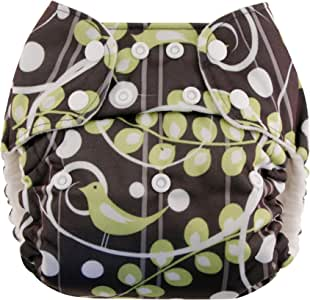 Blueberry One Size Deluxe Pocket Diapers, Tweet