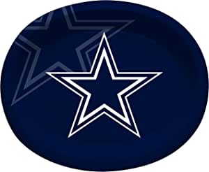 Creative Converting 8 Count Dallas Cowboys Paper Oval Platters