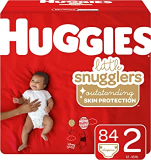 Huggies Little Snugglers Baby Diapers, Size 2, 84 Count