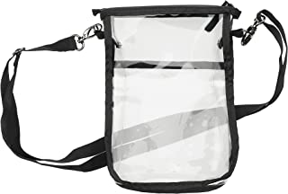 Clear Cross-Body Vertical Bag with Nylon Trim