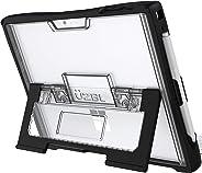 UZBL Microsoft Surface Pro 6 手机壳内置可折叠支架和加固 TPU 边缘