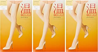 ATSUGI 厚木 连裤丝袜 ASTIGU 【温】发热连裤丝袜 3双套装 FP6003 女士 NEW裸米色 日本 M~L (日本サイズM-L相当)