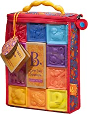 B.Toys 比乐 捏捏乐数字浮雕软积木玩具 无毒可啃咬 牙胶 感官训练 早教 数字形状认知  婴幼儿童益智玩具 礼物 6个月+ BX1002Z