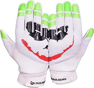 Joker 足球手套 - 硅胶抓握接收手套 - 儿童,青少年,成人尺码
