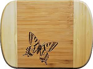 双色竹制砧板 6 x 8 蝴蝶 6 x 8 0100-BU