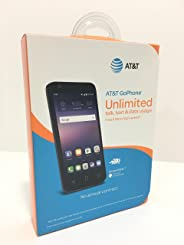 AT&T GoPhone Alcatel Ideal 4G LTE w/ 8GB Memory Prepaid Cell Phone Slate 蓝色