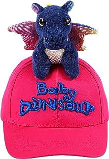 NWK Hats 棒球嬰兒恐龍龍龍卡車司機帽 * 純棉可愛趣味動物可調節派對戶外搭扣漿果粉色