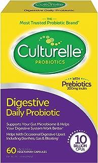 Culturelle 康萃樂 每日益生元膠囊,有益于吸收,可以自然地與您的身體配合,使機體系統保持平衡*,包含經過驗證的有效益生元,60粒*包裝可能會有所不同*