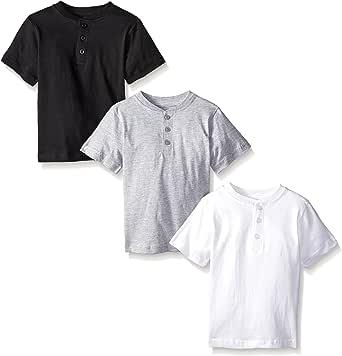American Hawk Boys 3 Piece Pack Henley Shirt White/Black/Heather Grey 18/20