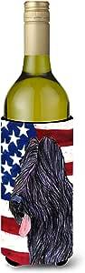 Caroline's Treasures SS4052 - 美国国旗 Briard Ultra Beverage 绝缘瓶 SS4052MUK,多色 多种颜色 750 ml SS4052LITERK