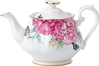 Miranda Kerr Royal Albert 0.45 升茶壶友谊,骨瓷白色,11.55 x 12 x 11 厘米