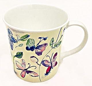 Rose of England 蝴蝶和花卉精美骨瓷咖啡杯