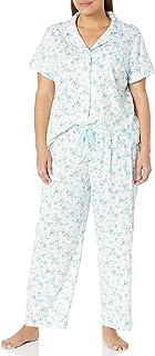 Karen Neuburger 女式短袖花卉女友露脐睡衣套装