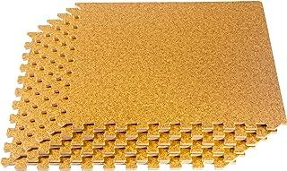 森林地板木纹,软木纹理和竹粒 interlocking 泡沫抗*木地板22'x2' 拼贴