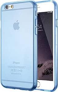 iPhone 6G-6S 手机壳,iPhone 6PLUS 手机壳,iPhone 7G 手机壳,iPhone 7PLUS 手机壳水晶透明减震技术防刮缓冲软质 TPU 手机壳PC1003-6G/6S-BLUE 6G-6S-6 PLUS-7G-7 PLUS 6G/6S Blue