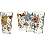 Lenox 866239 Butterfly Meadow Acrylic Hiball Glass (Set of 4), Multicolor