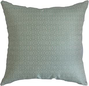 """The Pillow Collection Whitney 几何欧式枕套 蓝色 蓝色 King/20"""" x 36"""" KING-D-71033-LANA"""