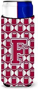 Caroline's Treasures Letter F Football Crimson