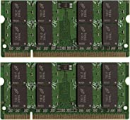 新品! 4GB (2X2GB) DDR2-800 SODIMM 笔记本电脑内存 PC2-6400