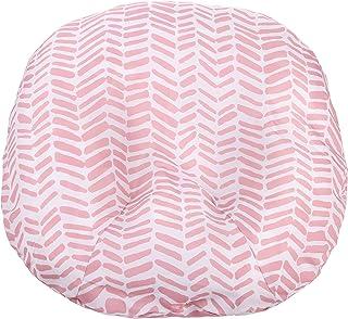 新生儿躺椅*防水可拆卸护套 | 中性灰色箭头设计 | 优质柔软可擦拭面料 | *的婴儿送礼礼物 | Mila Millie 粉色人字纹