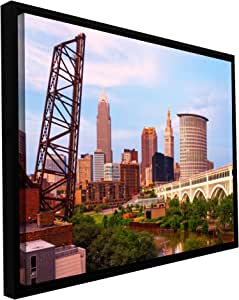 ArtWall Cody York 'Cleveland 10' Floater Framed Gallery-Wrapped Canvas Artwork, 12 by 18-Inch, Holds 10.5 by 16.5-Inch Image