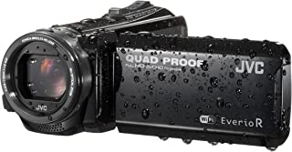 "JVC GZ-RX601BEU 全高清存储卡摄像机 带有坚固的""QUAD PROOF"" 外壳和 Wi-Fi,黑色"