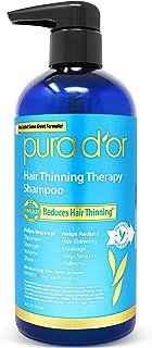 PURA D'OR防脱发洗发水,注入有机摩洛哥坚果油,生物素和天然成分,适合所有发质,男士和女士,16盎司(约480毫升)(包装可能有所不同)